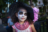 AGUASCALIENTES, MEXICO - NOV 02: Unknown girl on a carnival of t — Stockfoto