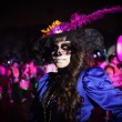 Постер, плакат: AGUASCALIENTES MEXICO NOV 02: Unknown woman on a carnival of t