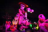 AGUASCALIENTES, MEXICO, NOV 02: Figures of skeletons on a carniv — Stock Photo
