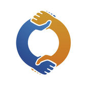 Double handshake — Stock Vector