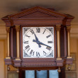 Old clock at the railway station — Stock Photo