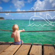 The child dreams on a sea beach — Stock Photo #40093177