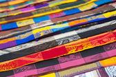Tecidos coloridos, méxico — Fotografia Stock