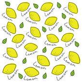 Vector background made of lemons — Stock Vector
