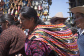 CHICHICASTENANGO, GUATEMALA - MARCH 24: The unknown people in th — Stock Photo