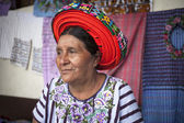 SANTIAGO ATITLAN, GUATEMALA - MARCH 24: Old woman in ethnic trad — Stock Photo