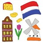 Vector símbolos dos Países Baixos — Vetor de Stock  #45230329