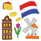 Vector symbols of Netherlands — Stock Vector