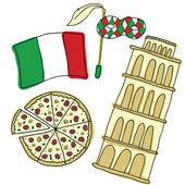 Vector symbols of Italy — Stock Vector