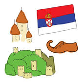 Vector symbols of Serbia — Stock Vector