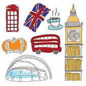Vector symbols of United Kingdom — Stock Vector