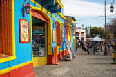 BUENOS AIRES MAY 01: Colorful Caminito street in the La Boca, Bu — Foto de Stock