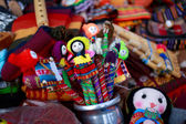 Crafts and souvenirs in Purmamarca, in the colourful valley of Q — Stok fotoğraf