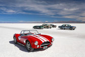 SALINAS GRANDES, ARGENTINA - MAY 04: Retro cars participating in — Stock Photo