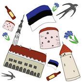 Vector symbols of Estonia — Stock Vector