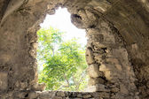 Window in ancient fortress — Stock Photo