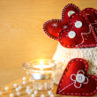 Valentines with candle — Stockfoto #17828817