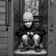 Homeless child — Stock Photo