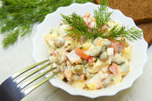 Russian salad Olivier — Stock Photo