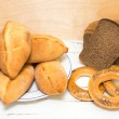 Bread and Traditional pastries — Stock Photo
