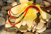 Handmade necklace — Stock Photo