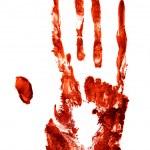 Bloody hand print — Stock Photo #19983925