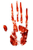 Bloody hand print — Stock Photo