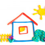 Plasticine small house — Stock Photo #20218371