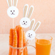 Carrots and juice — Stock Photo