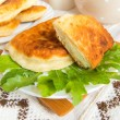 Fried patties with curd cheese — Stock Photo