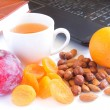 Healthy snack in office - Stock Photo
