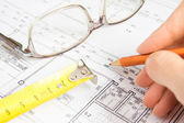 Architecturaal project — Stockfoto