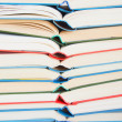 Stack of open books — Foto Stock #25001483