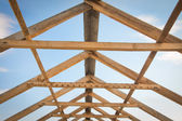 Construction of roof — Stock Photo