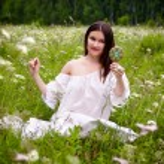 Girl on meadow — Stock Photo #25397521