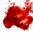 Blood smear splatter — Stock Photo