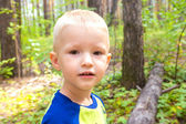 Child in forest — Stock Photo