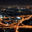 Expressway in downtown at night bangkok, thailand — Stock Photo