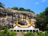 Wat Phra Putthachai, temple on cliff, Saraburi, Thailand — Stock Photo