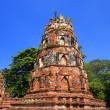 An ancient pagoda in wat mahathat temple, Ayutthaya Thailand — Stock Photo