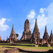 Wat Chaiwatthanaram, a famous ancient temple in Ayutthaya, Thail — Stock Photo