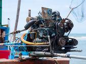 Old fishing boat engine — Stock Photo