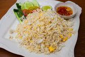 Arroz frito con cangrejo, marisco tailandés — Foto de Stock