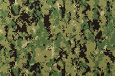 US navy working uniform aor 2 digital camouflage fabric texture — Stock Photo
