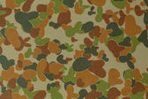 Australia armed force auscam camouflage fabric texture backgroun — Stock Photo