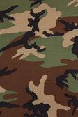 US military woodland camouflage fabric texture background — Stock Photo