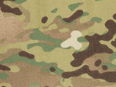 Armed force multicam camouflage fabric texture background — Stock Photo