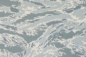 US air force digital tigerstripe camouflage fabric texture backg — Stock Photo