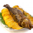 Fish perch hot smoked - Stock Photo