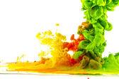 Abstração gotas de cor — Foto Stock